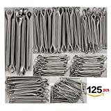 LGDehome 125 PCS (5 size)304 Stainless Steel Cotter Pin Assortment for Automotive