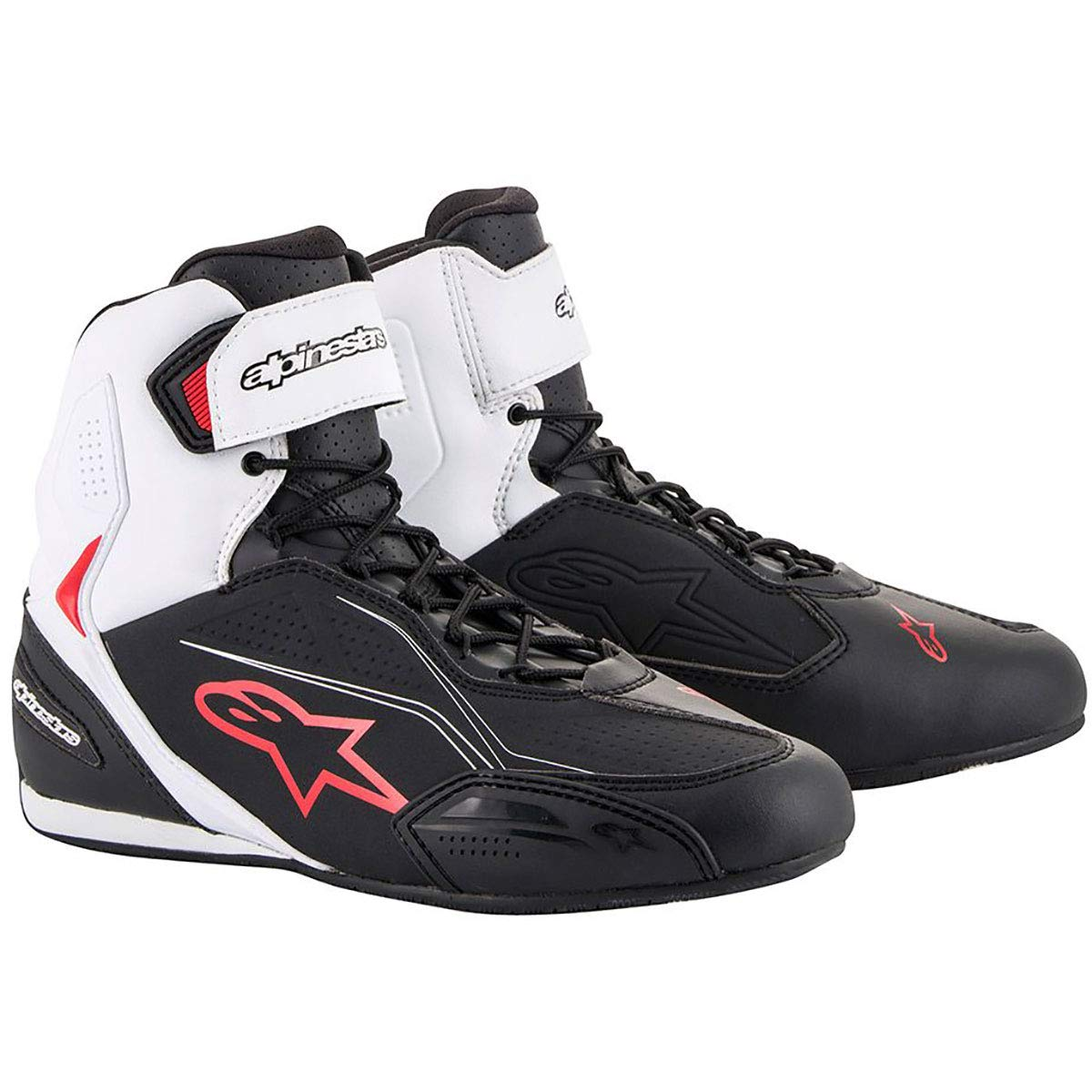 Alpinestars Faster-3 Shoes (7.5, Black/White/Red)