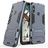 Funda para Xiaomi Mi A2 Lite/Redmi 6 Pro (5,84 Pulgadas) 2 en 1 Híbrida Rugged Armor Case Choque Absorción Protección Dual Layer Bumper Carcasa con Pata de Cabra (Azul Negro)