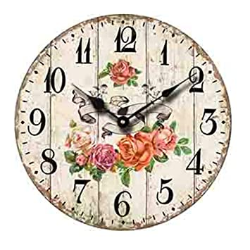 Coindivi 12 Inch Non Ticking Wall Clock Battery Operated Silent Decorative Wall