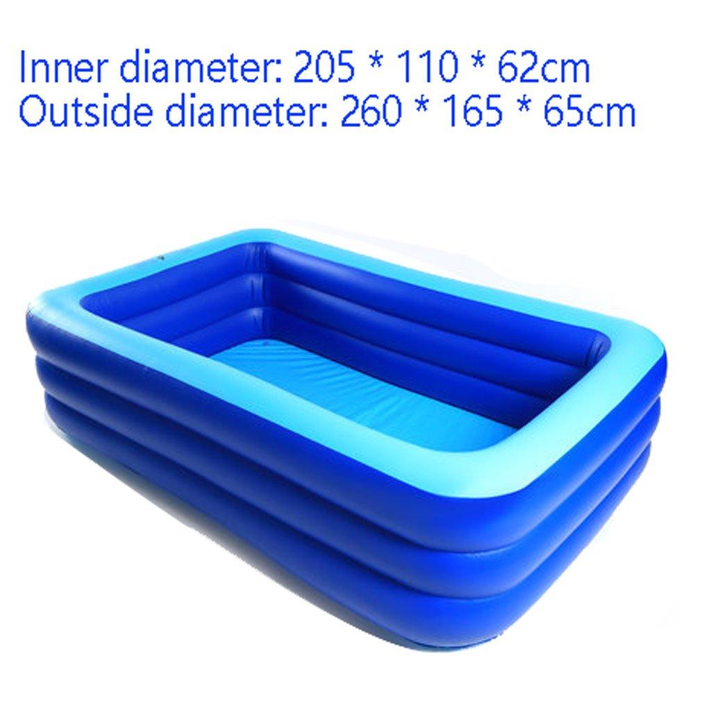 Ymxljfbañera Inflable Piscina Hinchable Piscina Cuadrada para Adultos Piscina para Niños Piscina para Niños (Color : Azul, Tamaño : B-2.6M)