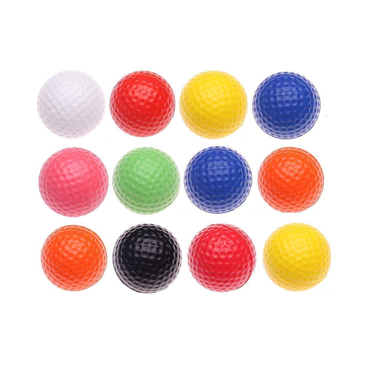 Fanovo Foam Golf Balls - Practice Golf Balls - Kid Golf Balls - Pet Balls, Light Soft Elastic Training Multifunction Sport Balls (12 Pack)