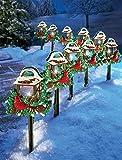 10 Pc Cardinal Bird Lantern Walkway Path Stake Holiday Lawn Decoration