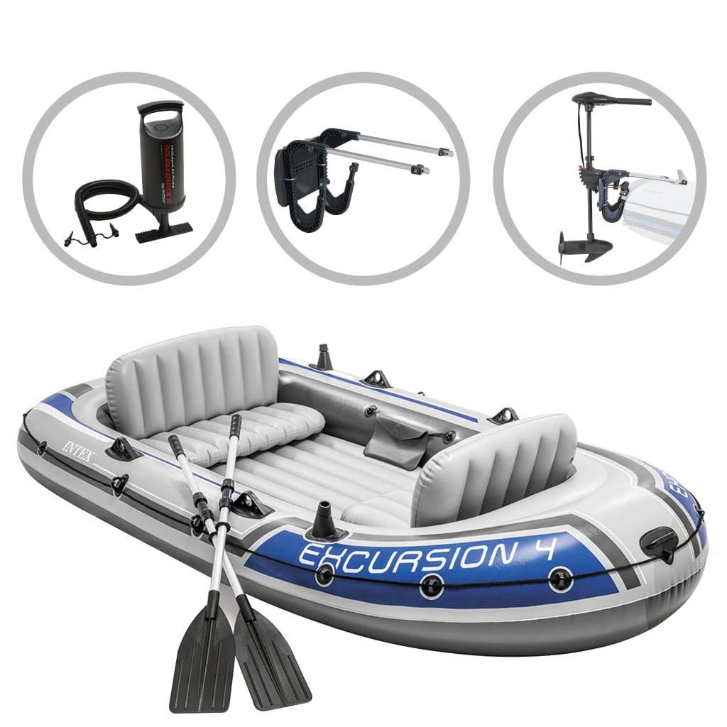 vidaXL Intex Set de Bote Inflable Excursion 4 con Motor de ...