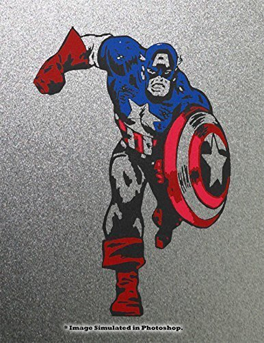 Captain America Avengers Stenciled Graffiti Spray Paint Art Painting on Metal