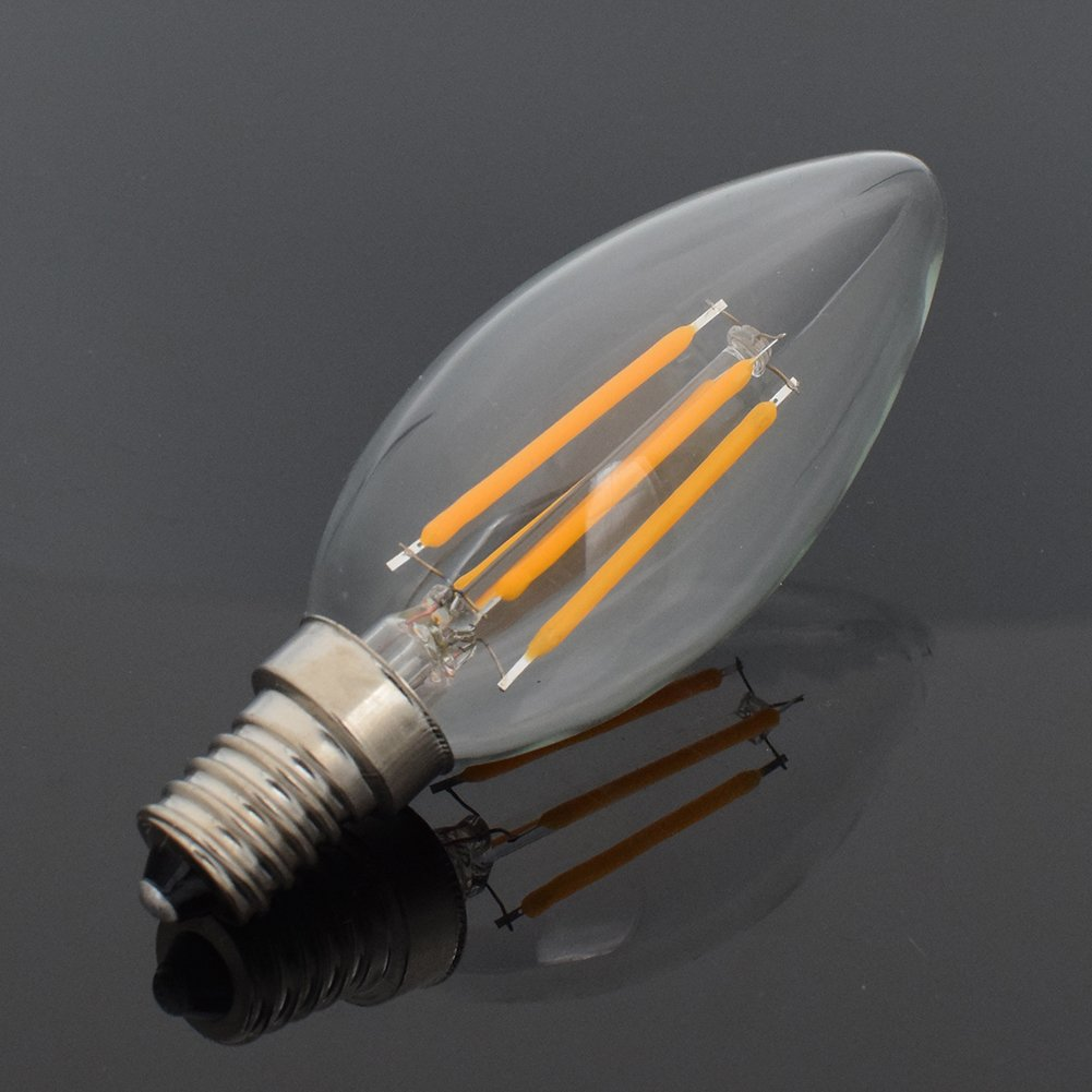 YCDC 12X Retro E14 8W Dimmable Filament LED Light Candle Drawing Lamp Warm White