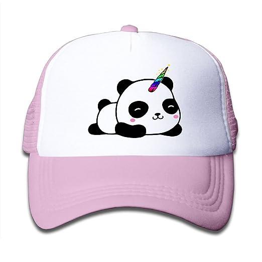 eadc7e02694 Amazon.com  SDRG5 Unicorn Panda Child Baby Kid Mesh Caps Adjustable Trucker Hats  Summer Baseball Caps  Clothing