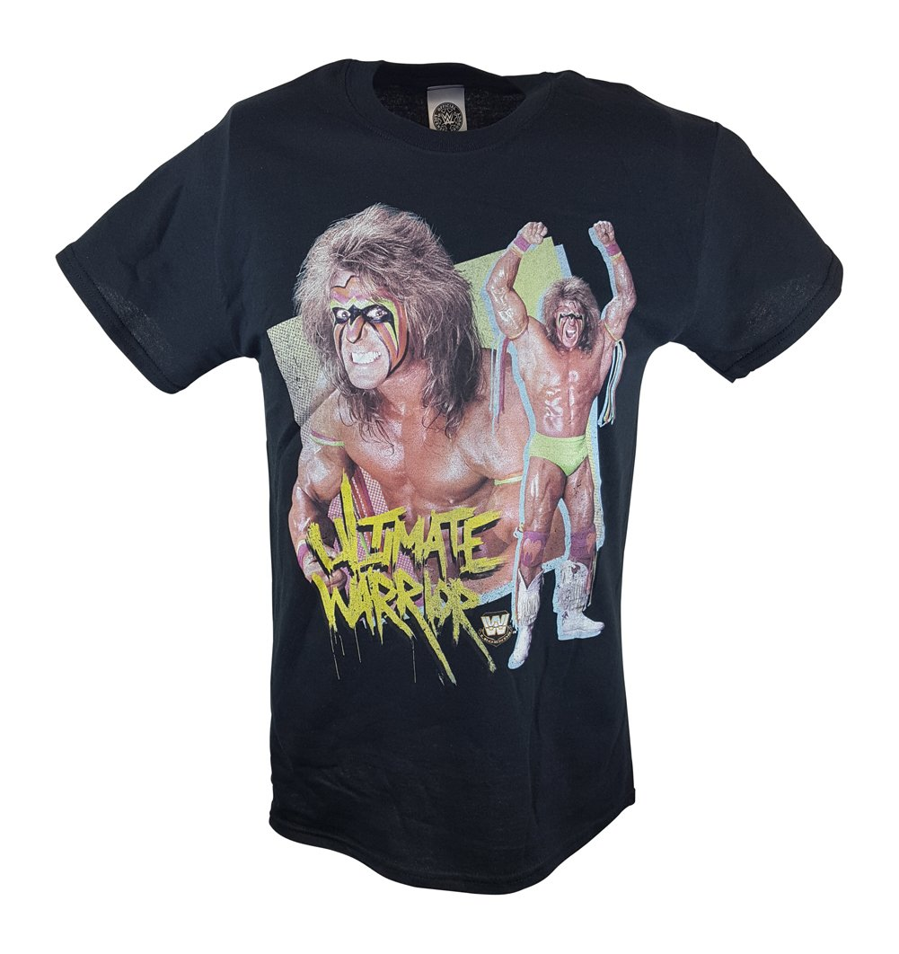 Ultimate Warrior Victory Pose WWE Mens T-shirt-XL