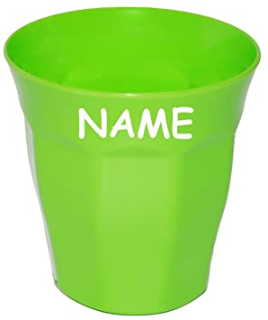 Name auch als Zahnputzbecher // Malbecher Bunte Farben Kinder .. incl 280 ml aus Kunststoff // Plastik Waffeloptik Tasse alles-meine.de GmbH Trinkbecher // Becher