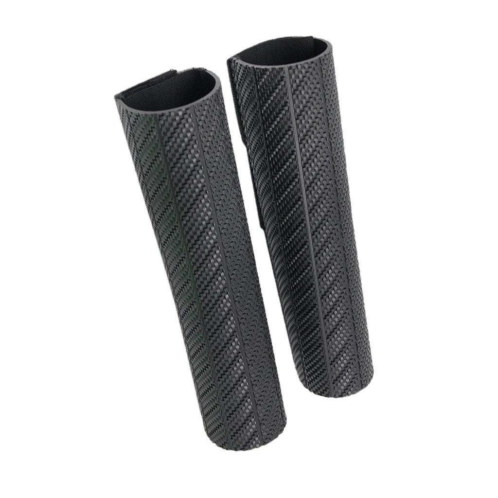 MagiDeal 1par Cubierta de Amortiguador de Caucho Protector de Suciedad para Motocicleta Negro