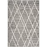 Safavieh Adirondack Collection ADR128B Ivory and Silver Vintage Area Rug (6′ x 9′)