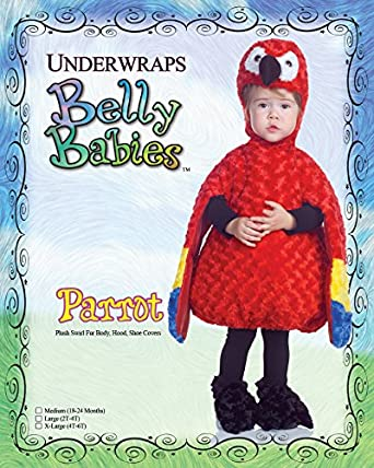 Underwraps Toddlers Parrot Belly Babies Costume