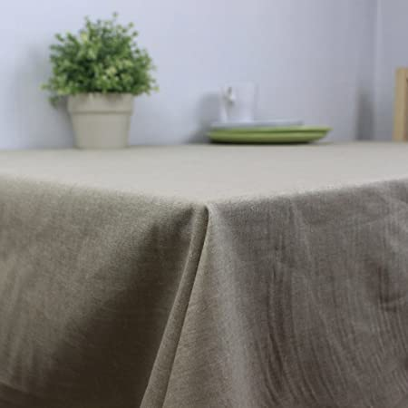 starail spill-proof mantel varios tamaño algodón y lino funda para mesa de comedor, algodón, Buff, 50.3*50.3In: Amazon.es: Hogar