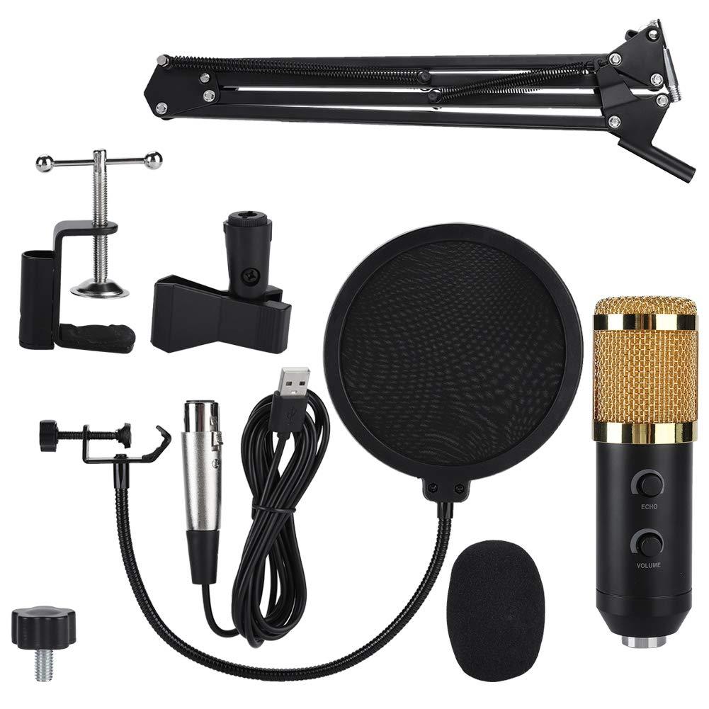 Kit De Reverberacion De Microfono Usb De Condensador Fosa, Kit De Microfono De Computadora Con Brazo De Tijera De Suspen