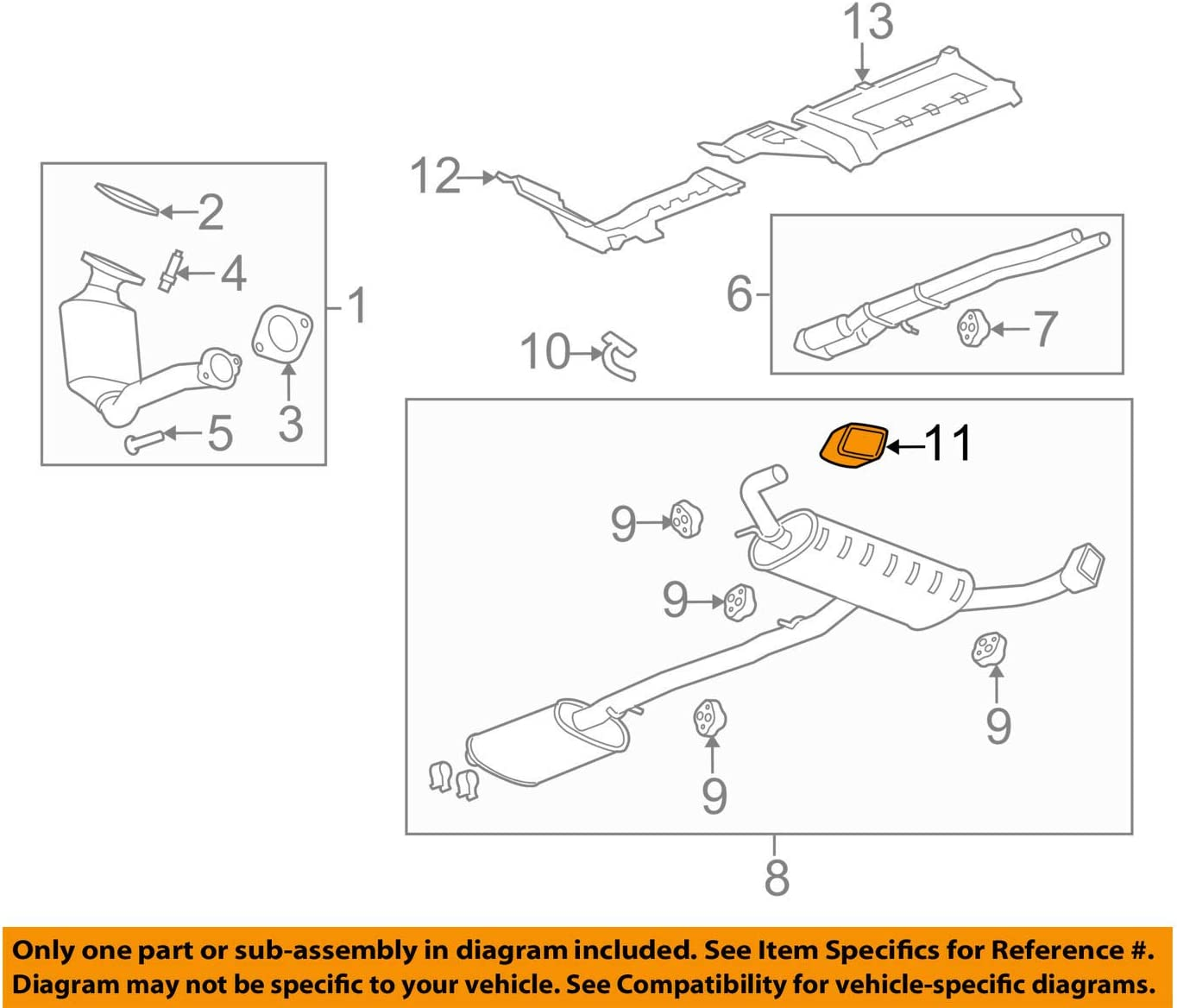 GM OEM-Exhaust System Tail Pipe 15222270