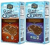 Lundberg Organic Gluten-Free Sweet Dreams Chocolate Rice Cakes 2 Flavor Variety Bundle: (1) Sweet Dreams Milk Chocolate Rice Cakes, & (1) Sweet Dreams Dark Chocolate Rice Cakes, 3.17 Oz Ea (2 Boxes)