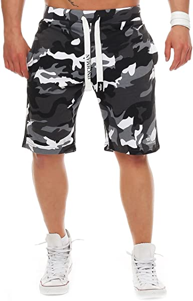 Finchman Pantalones Cortos Deportivos De Algodon Para Hombres Bermuda Sweatpant Amazon Es Ropa Y Accesorios