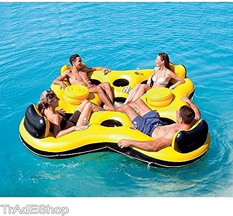 TradeShopTraesio® – Isla Flotador Sillón Juegos Playa Piscina ...