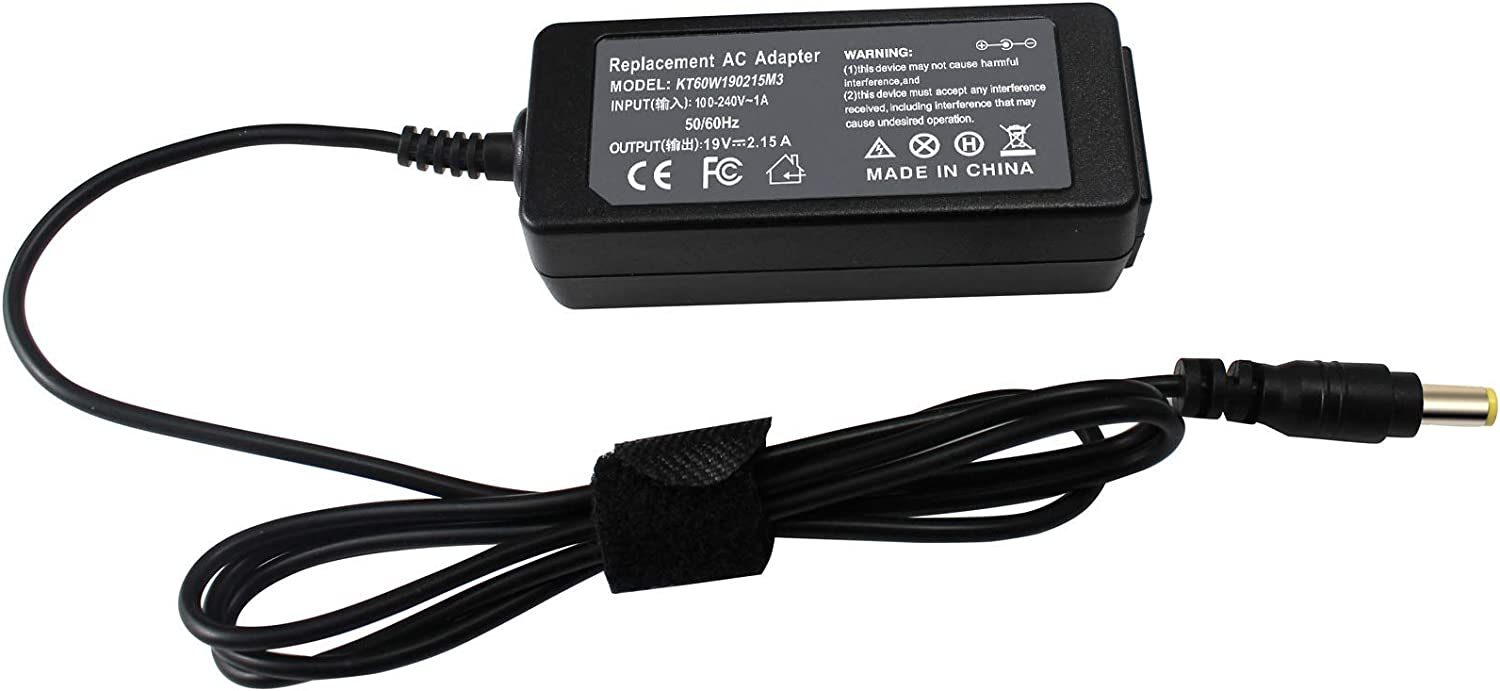 19V 2.15A 40W New AC Power Adapter Laptop Charger for Acer Aspire V3 V5 V3-551 V3-571 V3-572 V5-531 V5-571 E5-551 E5-573 E5-575 E3 E5 R3 722 725 756 522 D250 D260 D150 A110