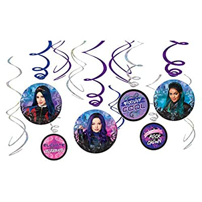 Disney Descendants 3 Spiral Decoration Kit, 12 ct: Toys & Games