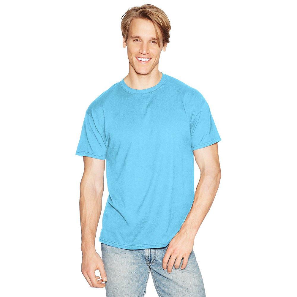 Hanes Men's X-Temp Crewneck Short-Sleeve T-Shirt (X-Large), Blue Horizon