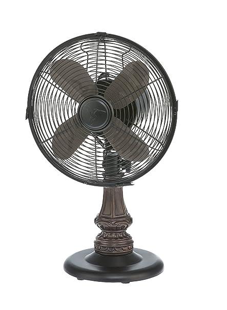 DecoBREEZE Oscillating Table Fan 3 Speed Air Circulator Fan, 10 In, Harrison