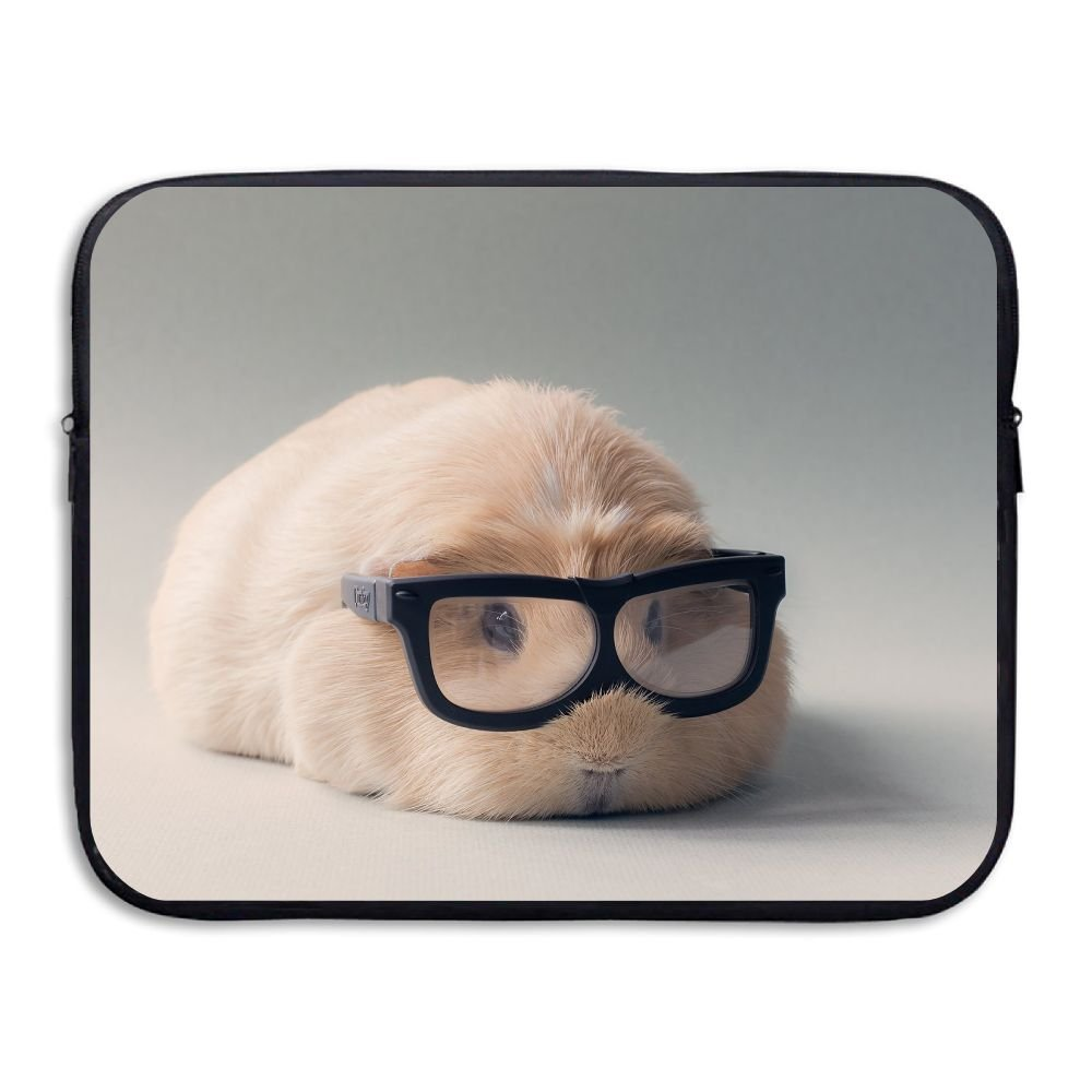 Mr.Roadman Laptop Sleeve Bag Guinea Pig With Glasses Briefcase Sleeve Bags Cover Computer Liner Case Waterproof Computer Portable Bags