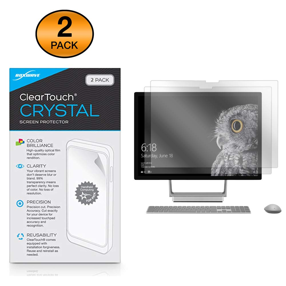 Microsoft Surface Studio Screen Protector, BoxWave [ClearTouch Crystal (2-Pack)] HD Film Skin - Shields from Scratches for Microsoft Surface Studio, Studio 2