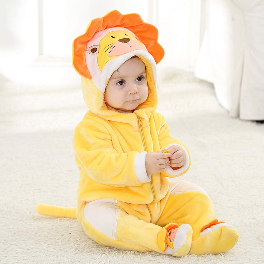 M/&A Baby Winter Romper Flannel Lion Costume Pajamas Cosplay Outfits