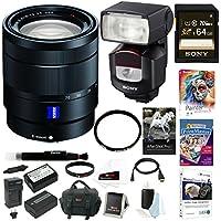 Sony 24-70mm f/4 Zoom Lens, HVLF43M Digital Camera Flash Bundle Package