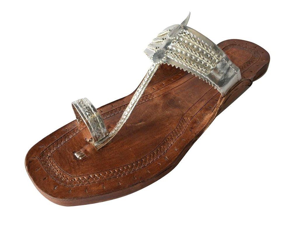 Step n Style Indian Handmade Leather Kolhapuri Slipper Mojadi Jutti Sandals