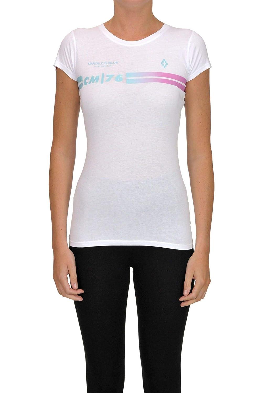 Brand Size M MARCELO BURLON Women's MCGLTPS000006038I White Cotton TShirt