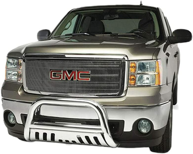 T YONG TONG Bull Bar Bumper for 2005-2007 Ford Excursion// 2005-2007 Ford F250 F350 F450 F550HD Superduty Heavyduty 3 Tube Front Bumper Sturdy Grille Brush Push Guard Easy-Install
