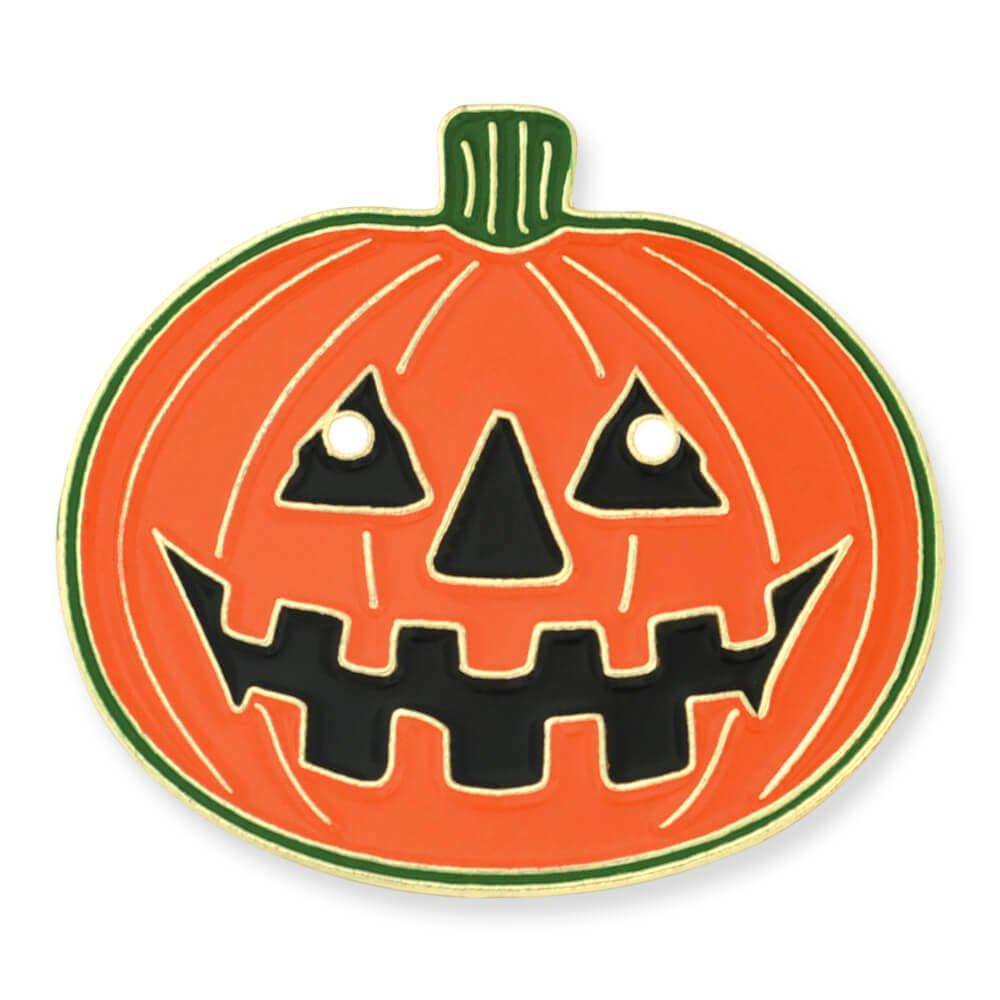 PinMart's Halloween Pumpkin Jack-O'-Lantern Holiday Lapel Pin 1'' by PinMart