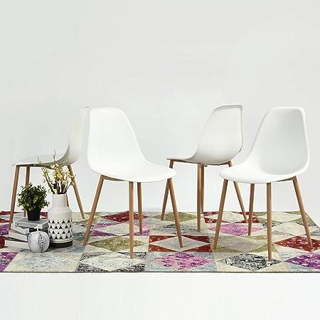 FURNISH1 Lot de 4 Chaises de Style Scandinave avec Une