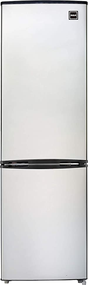 RCA RFR9004 9.2 Cubic Foot Fridge with Bottom Mount Freezer, Auto Defrost, cu ft, Stainless