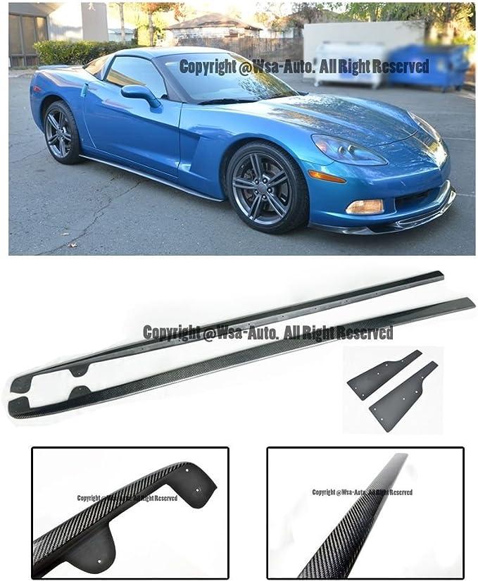 EOS Carbon Fiber Side Skirts Rocker Panels Body Kit For Chevrolet Chevy Corvette C6 Z06 ZR1 05-13 2005 2006 2007 2008 2009 2010 2011 2012 2013 ZR1 Style