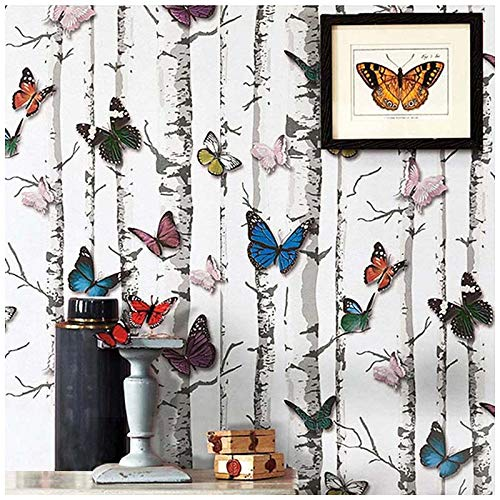 """Butterfly Contact Paper, H2MTOOL 3D Self Adhesive Wallpaper Peel and Stick(17.7"""" x 78.7"""", Butterfly)"""