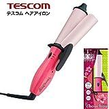 TESCOM ヘアー アイロン ストレート カール 2WAY 32mm 温度調節 / ピンク プロ 仕様 セラミック 海外対応 コテ 巻き髪