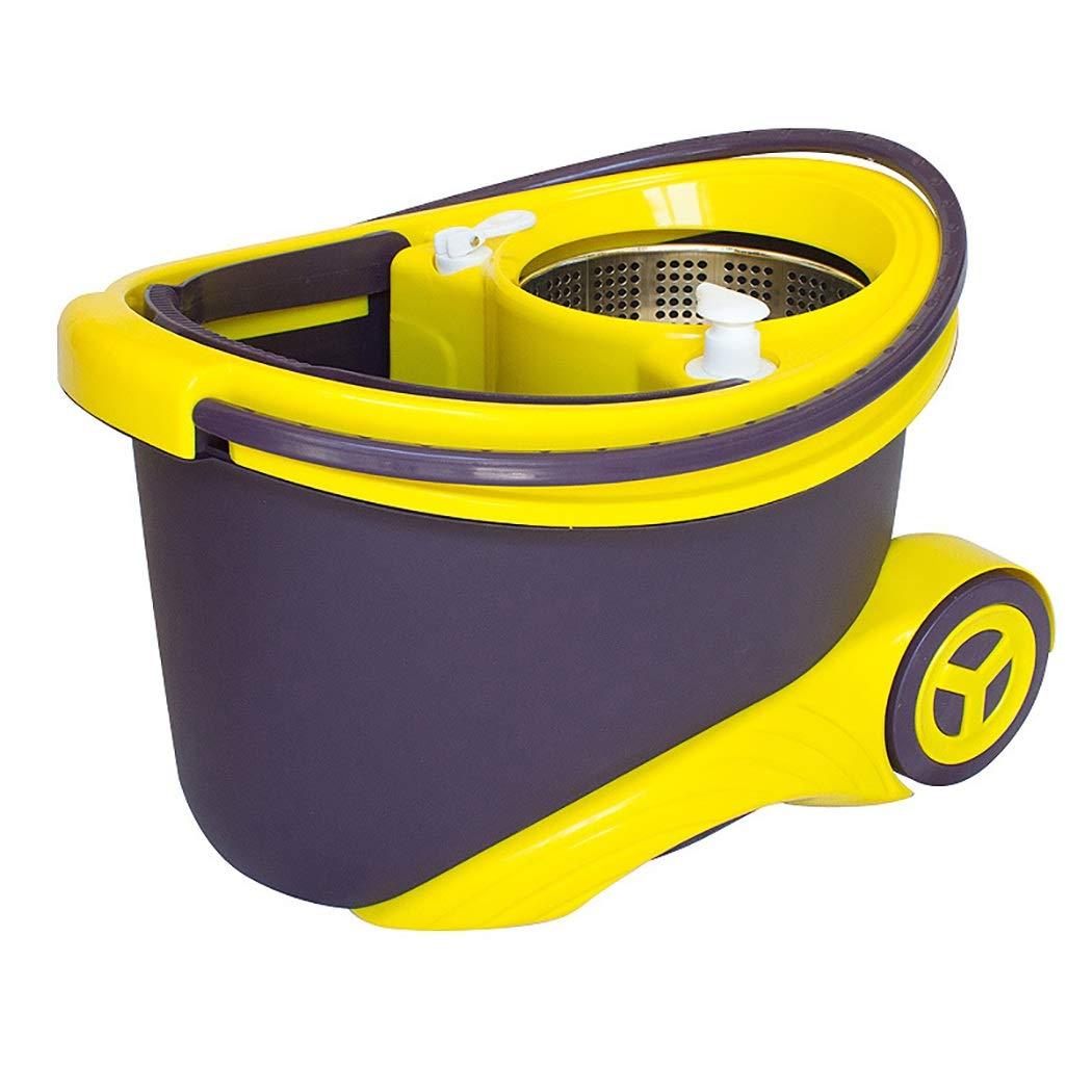 Aifulai Mopp Mopp Mopp und Eimer-Set Edelstahl 360 Spin Eimer-Bodenreinigungssystem 130CM   51 Zoll Technik PP-Material Langlebige Räder verwenden, um Sich zu bewegen (Farbe   Braun) B07K4BM37R Schaufel & Besen Sets 489b38