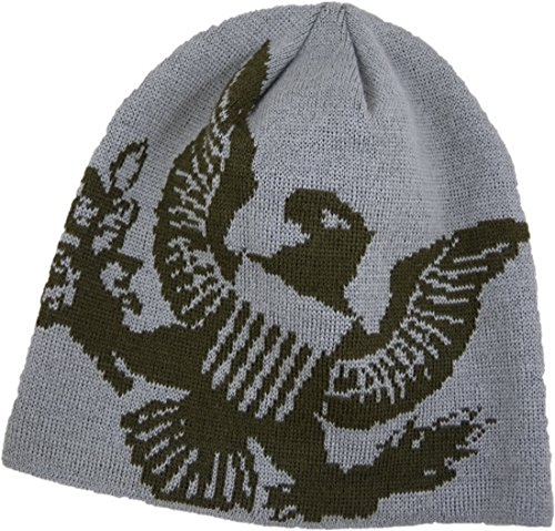 United States Army Presidential Seal Logo Knit Cap - Grey Woven Beanie Skull Hat