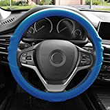FH Group FH3003DARKBLUE Dark Blue Steering Wheel Cover (Silicone W. Grip & Pattern Massaging grip Dark Blue Color-Fit Most Car Truck Suv or Van)
