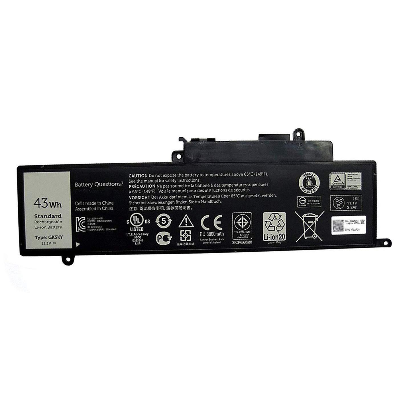 Bateria Dell GK5KY 11.1V 43Wh 3800mAh Inspiron 11 3147 3000