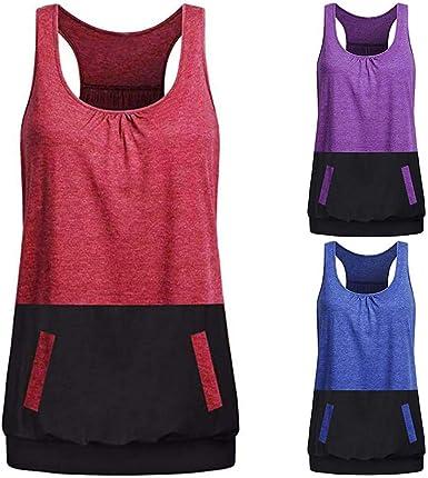 Vectry Camisetas Sin Mangas para Mujer Chaleco Negra Mujer Camiseta De Tirantes Blusas Estampadas Mujer Camisetas Sin Hombros Camisetas Largas Mujer Verano Camiseta: Amazon.es: Ropa y accesorios