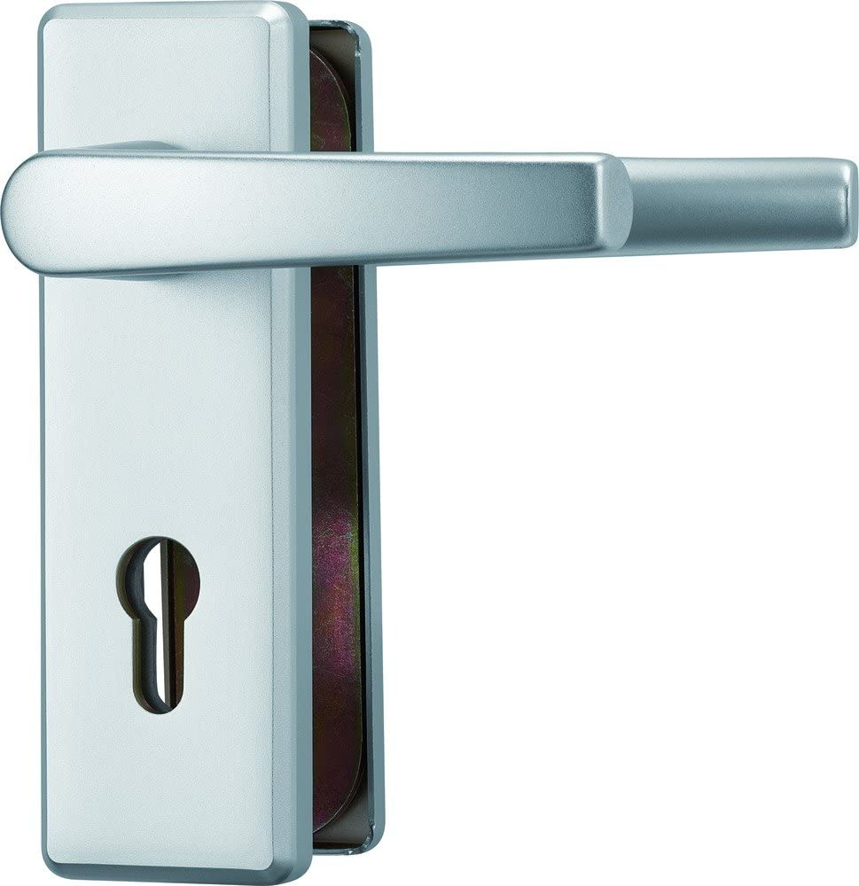 ABUS KKT512 F1 EK 264382 - Blindaje para cerraduras de portal (aluminio, para puertas de izquierda y derecha)