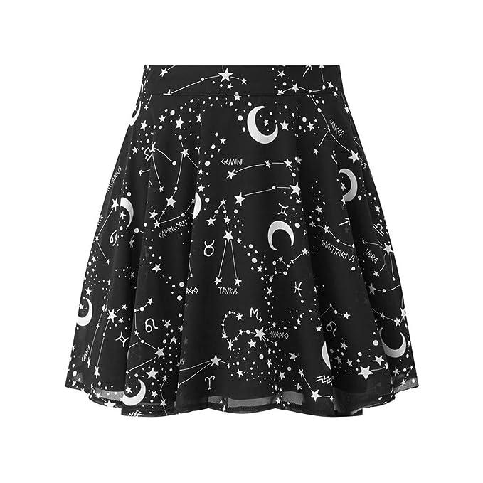 Falda Corta Gotica Negra Mujer/Vestidos Gótico Corto Negro ...