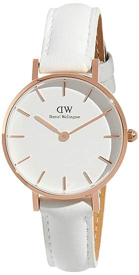 [Daniel Wellington] Daniel Wellington Reloj Ladies Classic Pettitte Bondi Blanco Oro Rosa 28 mm dw00100249 [Regular Importados]: Amazon.es: Relojes
