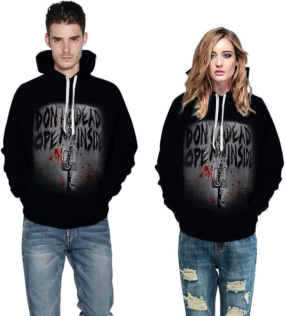 Siviki Men Hoodie,Denim Pockets Blouse Double High Collar Halloween Long Sleeve Sweatshirt Top Shirt Outwear Shirt