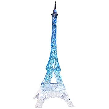 christmas glimmer lightshow led eiffel tower decoration