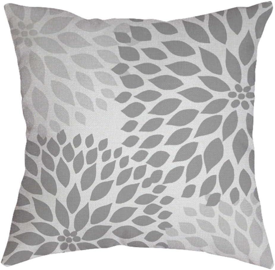 18/'/' Gray Geometric Square Waist Throw Pillow Case Sofa Cushion Cover Home Decor